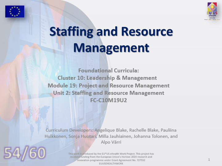 Lesson 54: Staffing and Resource Management