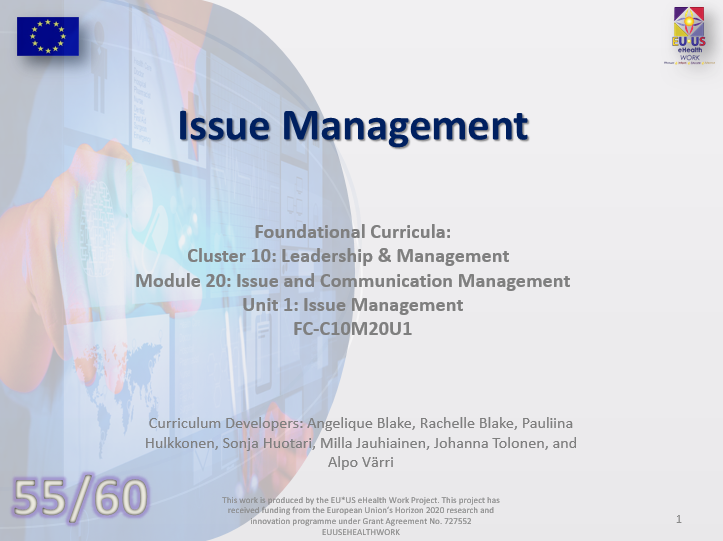 Lesson 55: Issue Management