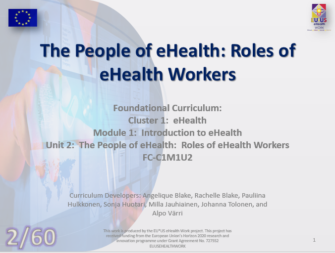 Unit 2: The People of eHealth