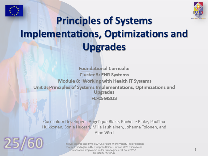 Lesson 25: Principles of System Implementations