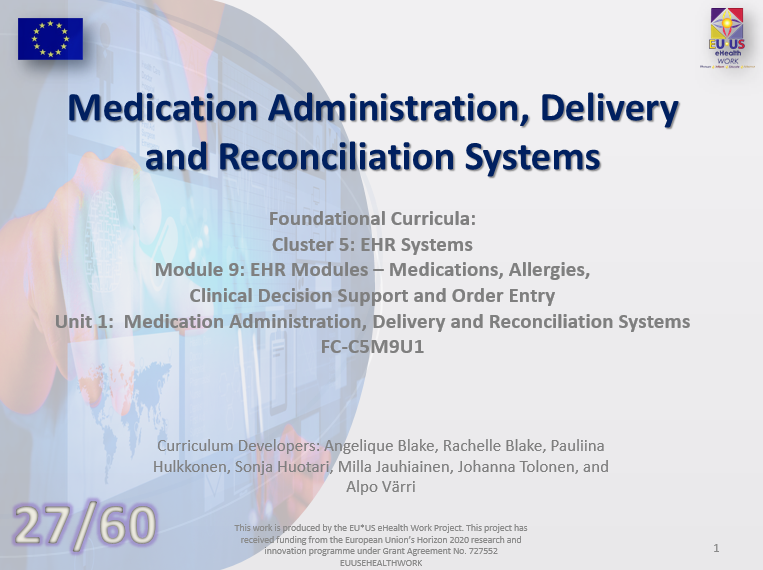 Lesson 27: Medication Administration