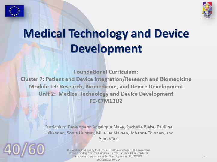 Lesson 40: Medical Technology and Device Development